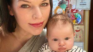 Mit zehn Wochen: Milla Jovovichs Tochter will schon sprechen