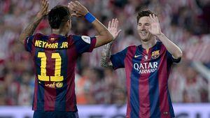 Neymar Jr. und Lionel Messi