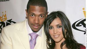 Nick Cannon und Kim Kardashian auf dem roten Teppich