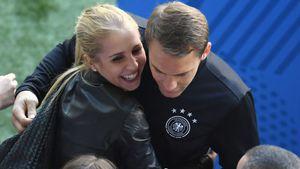 Nina Weiss und Manuel Neuer während der EM 2016