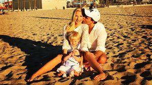 Oksana Kolenitchenko mit ihrer Familie