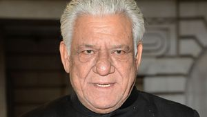 "Om Puri bei der Premiere von ""The Hundred Foot Journey"" in England 2014"