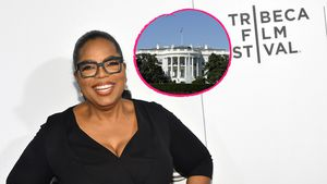 Oprah Winfrey mit dem Weißen Haus
