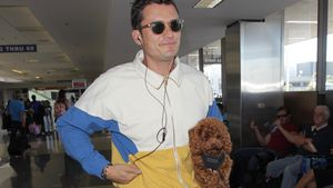 Orlando Bloom am Flughafen von L.A.