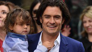 Orlando Bloom mit seinem Sohn Flynn 2014