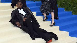 P. Diddy auf der Treppe der Met Gala 2017