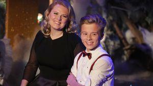 """Patricia Kelly und ihr Sohn Iggi in der TV-Show """"Das Adventsfest der 100.000 Lichter"""""""