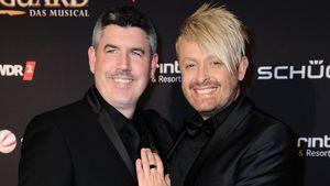 """Paul Reeves und Ross Antony bei der Premiere von """"Bodyguard – Das Musical"""""""