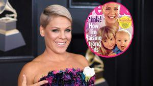 Mit Willow (6) & Jameson (1): Pink posiert für Magazin-Cover