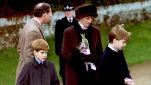 Prinz Charles, Prinz Harry, Prinzessin Diana und Prinz William 1994
