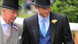 Prinz Charles und Prinz Harry beim Pferderennen in Royal Ascot