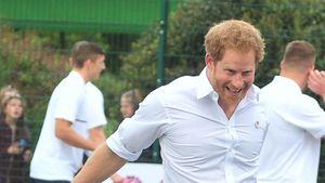 Prinz Harry beim Rugby-Spielen in Manchester
