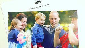 Prinz William mit Herzogin Kate und den beiden Kindern George und Charlotte