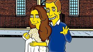 Knallgelber Star! Prinzessin Charlotte als Simpsons-Baby