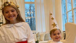 Wie goldig: Prinzessin Estelle & Oscar grüßen zum Luciafest!
