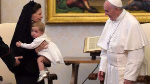 Prinzessin Leonore von Schweden, Königin Silvia von Schweden und Papst Franziskus I.