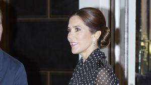 Vintage-Look: Prinzessin Mary im gepunkteten Chiffon-Kleid