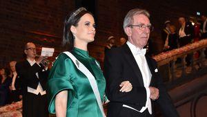 Prinzessin Sofia von Schweden und Professor Jean-Pierre Sauvage beim Nobelpreis-Bankett