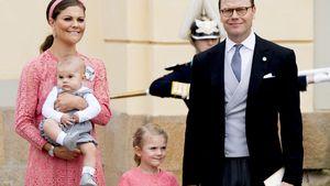 Schwedens Estelle & Victoria im Prinzessinnen-Partner-Look