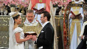 Prinzessin Victoria und Prinz Daniel während ihrer Hochzeit im Jahr 2010