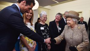 Queen Elizabeth II. und David Gandy