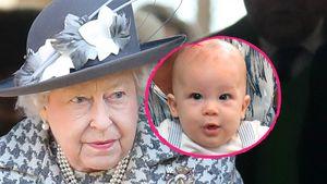 Queen traurig: Meghan und Harry ohne Archie in England