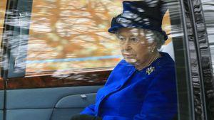 Queen Elizabeth bei der Ankunft in der St. Mary Magdalene Church 2017