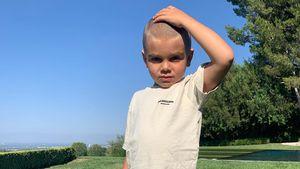 Fast Glatze: Kourtneys Sohn Reign (5) hat die Haare ab
