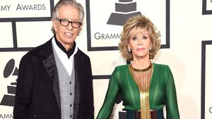 "Richard Perry und Jane Fonda bei den ""Grammy Awards"" in Los Angeles 2015"