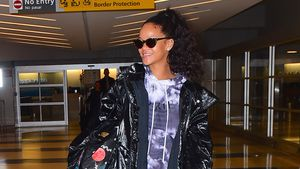 Rihanna am Flughafen in New York