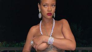 Unterwäsche vergessen? Rihanna posiert halb nackt im Netz