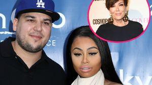 Rob Kardashian mit Blac Chyna und Kris Jenner