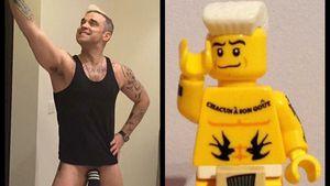 Socken-Penis: Robbie zeigt seinen kleinen Williams!