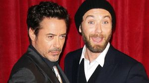 Modische Verwirrung: Jude Law & Robert Downey Jr.