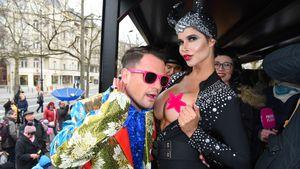 Rocco Stark und Micaela Schäfer beim Berliner Karnevalsumzug 2017