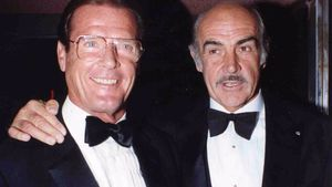 Roger Moore und Sean Connery