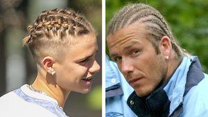 Romeo Beckham kopiert die alte Frisur seines Vaters David