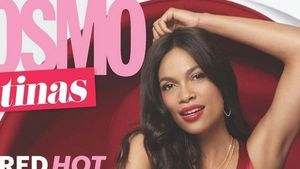 Lady in Red: Rosario Dawson schmückt Cosmo-Cover