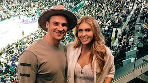 Ryan Lochte mit seiner Verlobten Kayla Rae Reid bei einem Basketballspiel