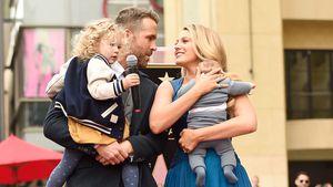 Rayn Reynolds, Blake Lively und ihre Kinder auf dem Walk of Fame