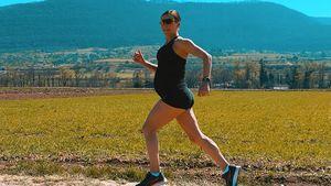 34. Woche: Schwangere Sabrina Mockenhaupt läuft noch immer