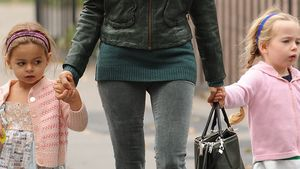Maulende Mädels: SJPs Zwillinge in Schmoll-Laune