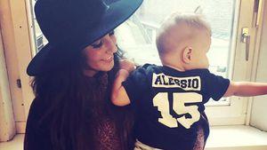 Sarah Lombardi mit Sohn Alessio