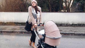 1. Spaziergang mit Mia Rose: Sarah Nowak liebt das Mama-Sein