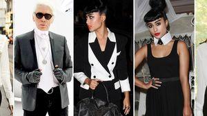 Miranda Kerr, Karl Lagerfeld und Natalia Kills