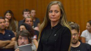 Schwesta Ewa am letzten Prozesstag im Landgericht Frankfurt am Main