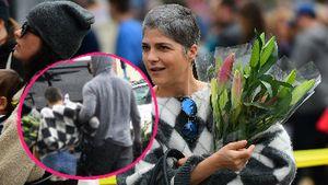 Kurzer Schreck: Selma Blair muss von Freund gestützt werden