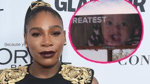 Muss das sein? Serena Williams' Baby auf riesigen Billboards
