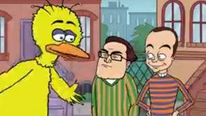Serientausch: Sheldon & Leonard in der Sesamstraße