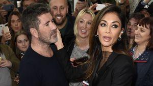 """Simon Cowell und Nicole Scherzinger im Juni 2016 bei dem Casting zu """"X-Factor"""" in Manchester"""